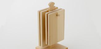 いちょうの木のまな板とひのきのスタンドセット