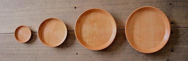 山桜のお皿 サイズ比較